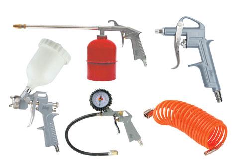 Набор пневмоинструмента FUBAG 5 предметов - к/р с верхним бачком (120101)