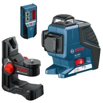 Лазерный нивелир Bosch Professional GLL 3-80 P + BM 1 + LR 2 в кейсе L-Boxx