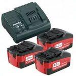 Аккумуляторы 3 шт. (4 А*ч; 18 В; Li-Ion) и ЗУ ASC 30-36 Basic-Set Metabo 685049000