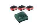 Аккумуляторы 3 шт. (5,2 А*ч; 18 В; Li-Ion) и ЗУ ASC 30-36 Basic-Set Metabo  (685048000)
