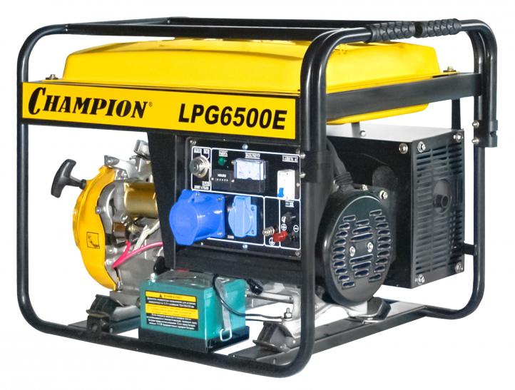 Генератор бензиновый CHAMPION LPG6500E