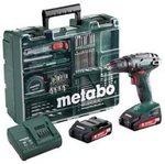 Аккумуляторный винтоверт Metabo BS 18 с набором оснастки