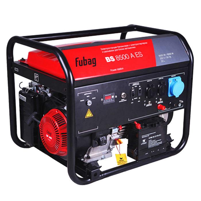 Бензиновая электростанция с электростартером и коннектором автоматики Fubag BS 8500 A ES
