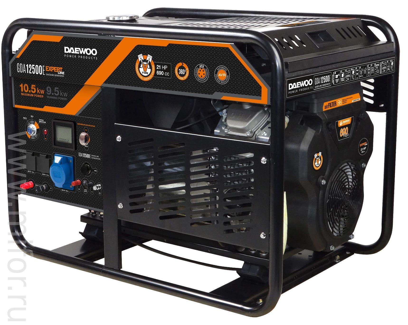 Генератор бензиновый DAEWOO GDA 12500E-3